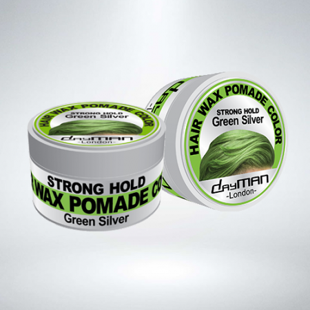 DayMan Hair Wax Pomade Color Green Silver