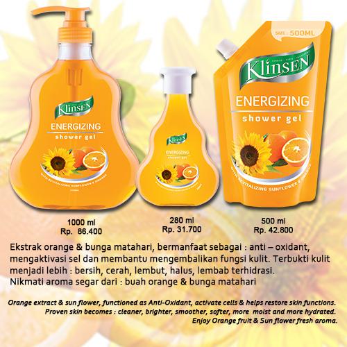 Klinsen Shower Gel – Energizing